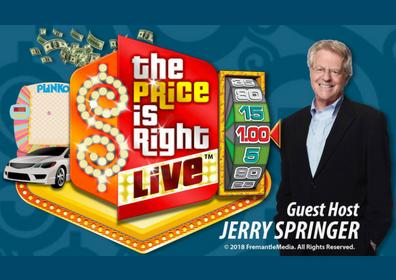 The Price is Right Live logo with Jerry Springer