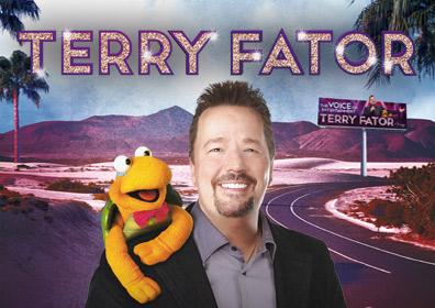 Terry Fator with his Puppet