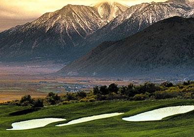 Looking towards Washoe Valley and mountains at one of the local golf courses
