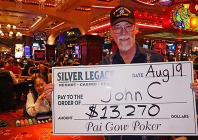 John C. wins $13,270
