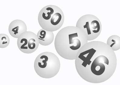 Black and White Keno Balls