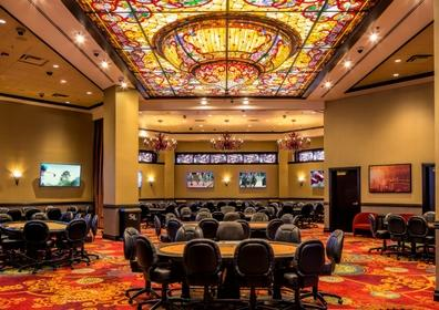 Shot of the Silver Legacy poker room