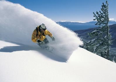 Man skiing the Northern Nevada slopes