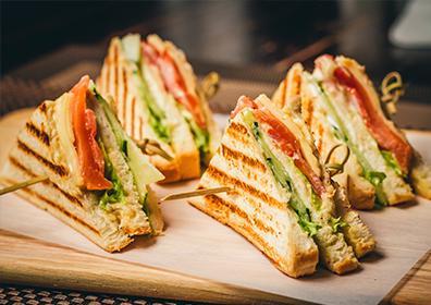 Cafe Central club sandwich