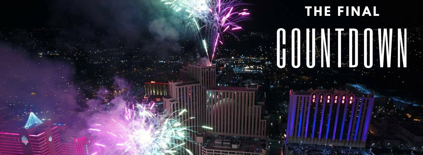 Fireworks over downtown Reno
