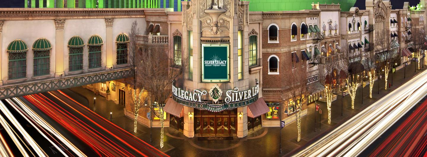 Street view of the Silver Legacy