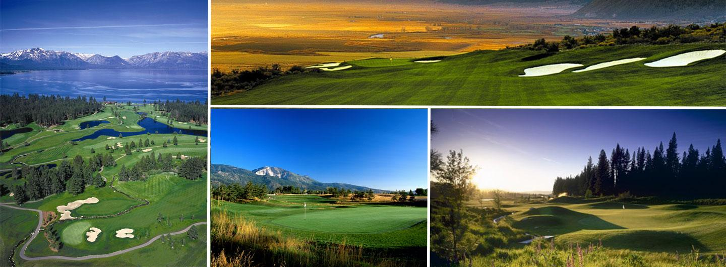 View of four golf courses in the Reno/Tahoe Area