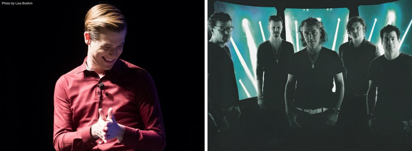 Tyler Henry and Collective Soul pose side by side
