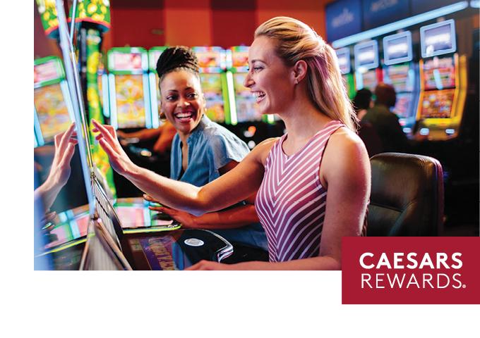 People playing slot machine