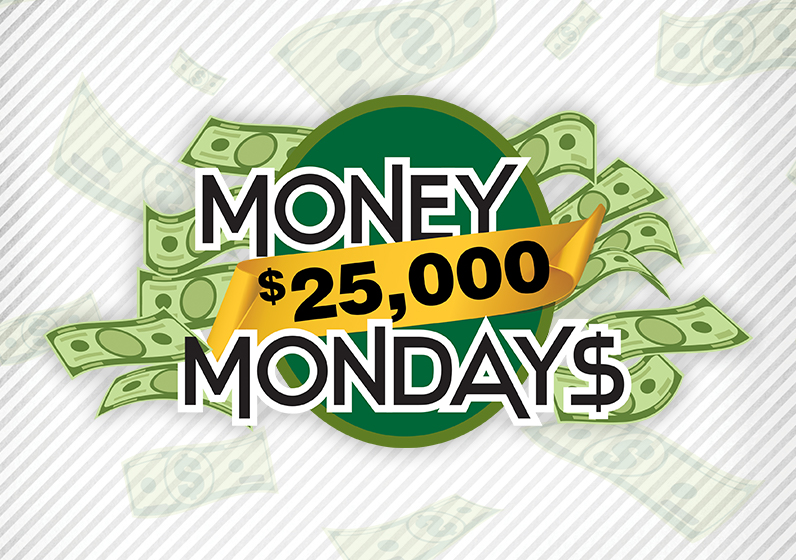 $25,000 Money Mondays: Win up to $10,000 in bonus slot dollars