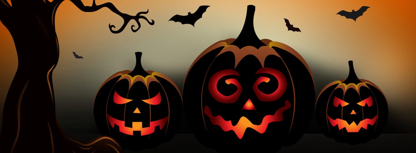 Pumpkins and Bats to promote the Spooktacular Savings Sale