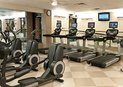 picture of treadmills in fitness center