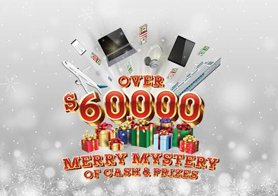 MERRY MYSTERY OF CASH AND PRIZES