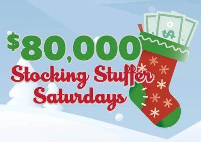 $80,000 stocking stuffer saturday with stocking