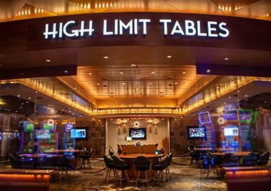 High Limit tables room