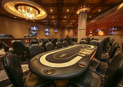 Picture of large room with poker tables