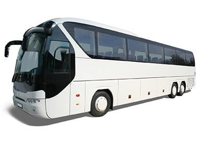 Motorcoach picture with a white background