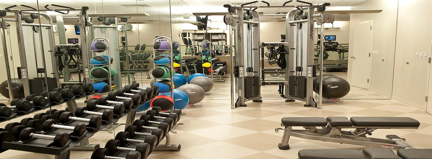 Picture of weights and exercise equipment