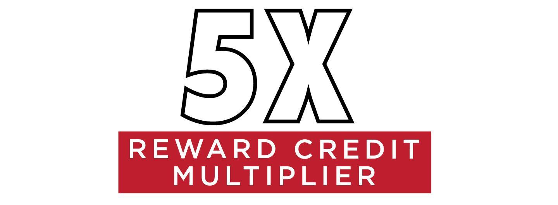 5X Reward Credit Multiplier