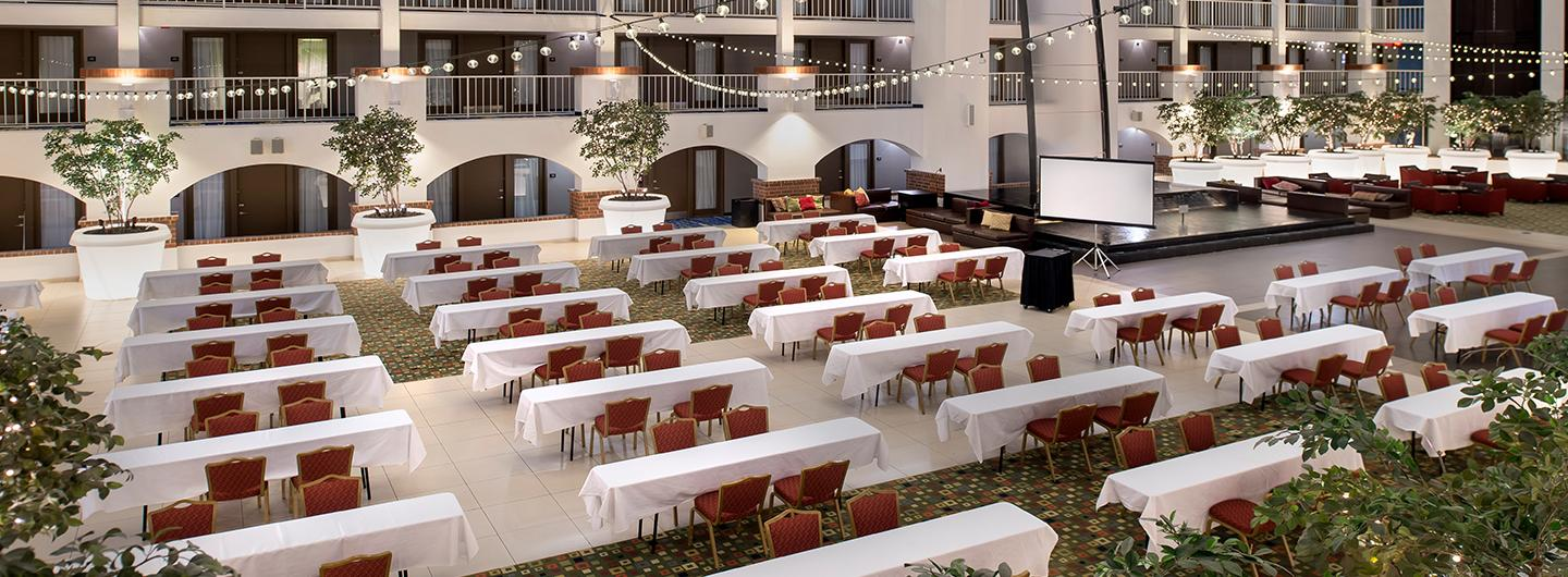 Picture of an event set up at Hotel Lumiere