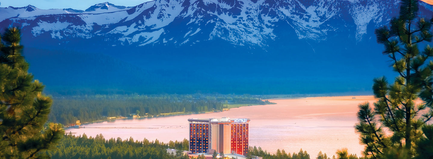 Dream Shot of MontBleu against backdrop of Sprawling Lake Tahoe