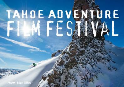 snowy mountain background with copy Tahoe adventure film festival