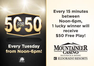 Promotions at mountaineer casino hotel casino game strip