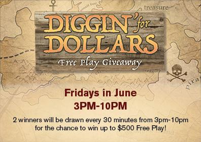 Diggin' For Dollars Free Play Giveaway