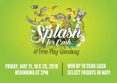 Splash for Cash & Free Play Giveaway
