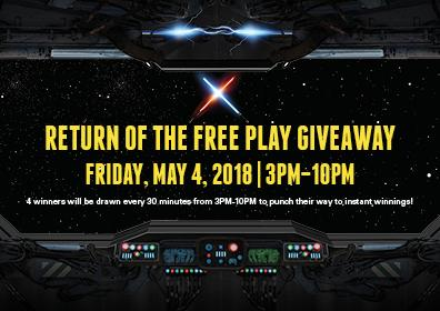 Return of the Free Play Giveaway