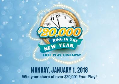 $20,000 Ring in the New Year Free Play Giveaway
