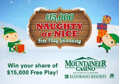 $15,000 Naughty or Nice Free Play Giveaway