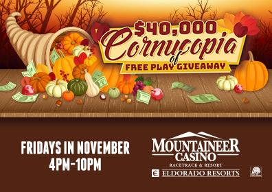 $40,000 Cornucopia of Free Play Giveaway