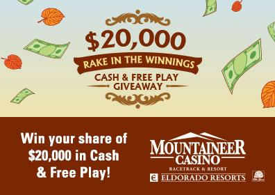 $20,000 Rake in the Winnings Cash & Free Play Giveaway