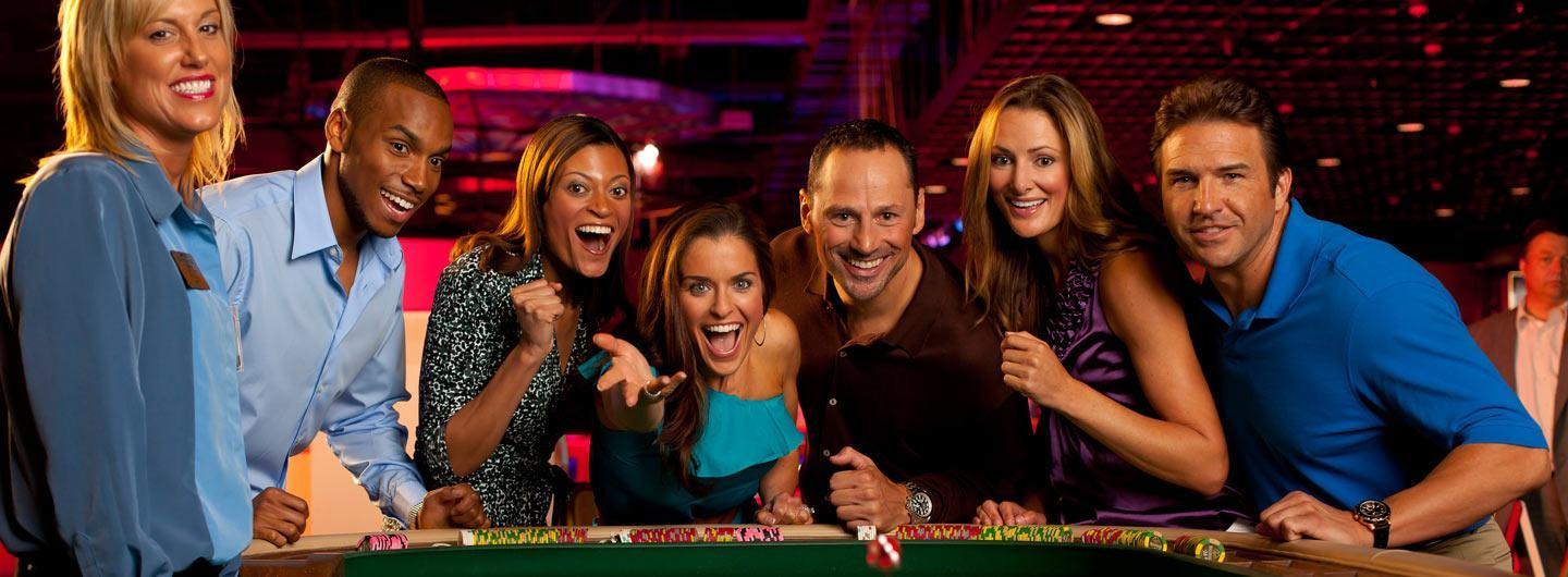 Group of people playing table games