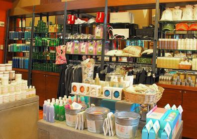 gift shop with soaps and spa things