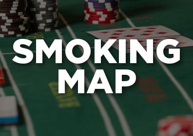 Gaming table with the text smoking map