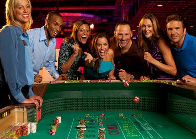 People playing craps at the casino