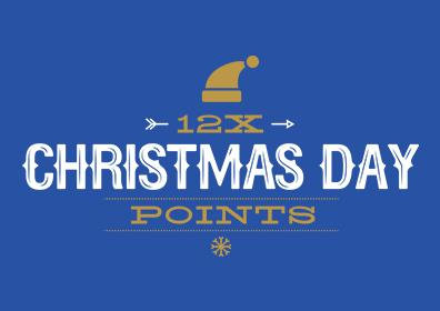 Christmas Day 12X Points
