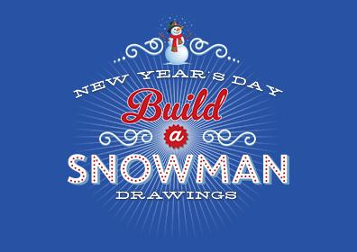 New Year's Day Build A Snowman Drawing