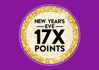 New Year's Eve 17X Points