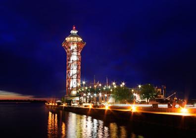 Night shot of Bicentnnial Tower