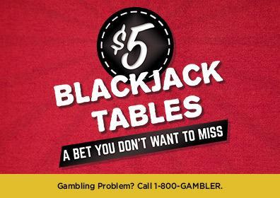 5 dollar blackjack