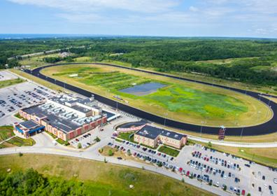 Aerial view of Presque Isle Downs Casino and Racetrack