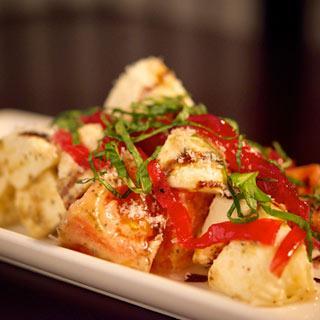 Caprese & Onion Salad at LBV Steak & Pasta