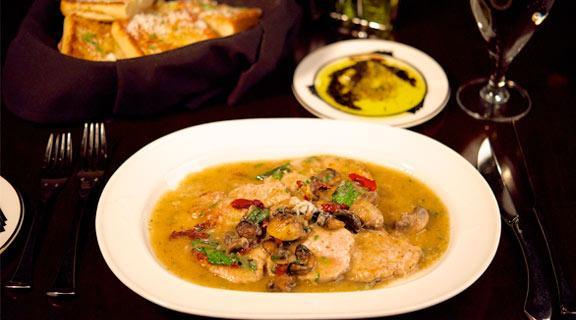 Chicken Alfredo at LBV Steak & Pasta