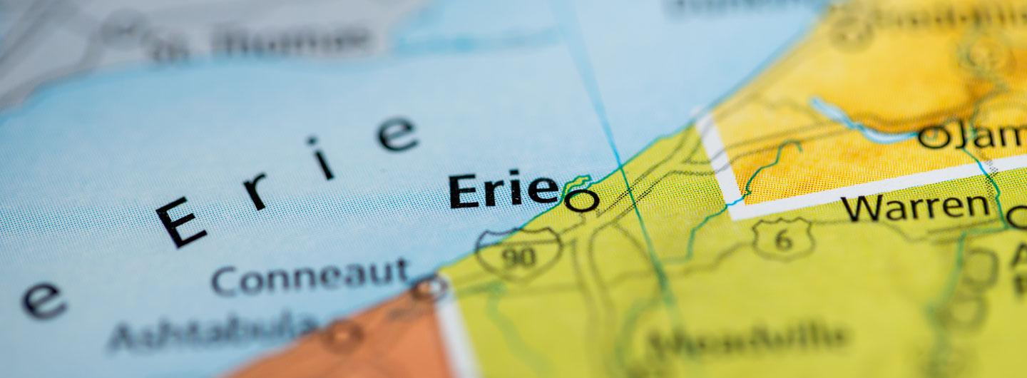 Map of Erie, PA