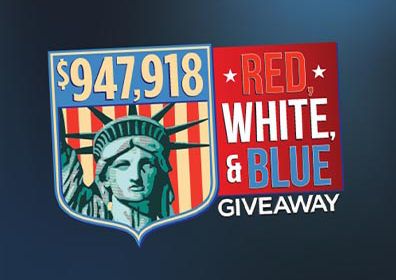 $947,918 Red, White & Blue Giveaway