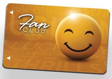 yellow fan club card