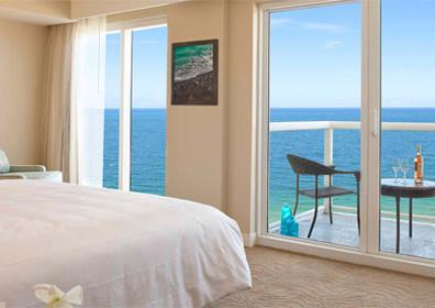 View of a room at Marriott Pompano Beach Resort & Spa